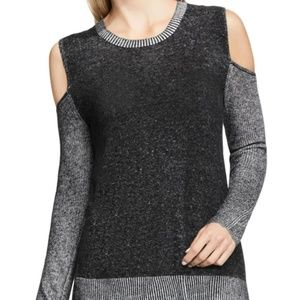 Vince Camuto Charcoal gray cold shoulder sweater S